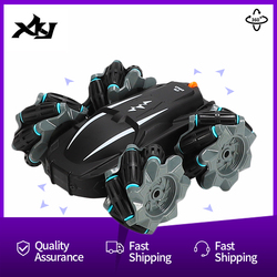 360° Rotating Remote Control RC Car 4WD 2.4G Drift Stunt Car High Speed Climbing Off-road Racing Car LED Lights Toy Kids Gift