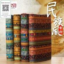100cm * 150cm/pièce, tissu de coton ethnique, tissu d'habillement, tissu imprimé Vintage, nappe de rideau de Sofa, matériel ralenti fait main