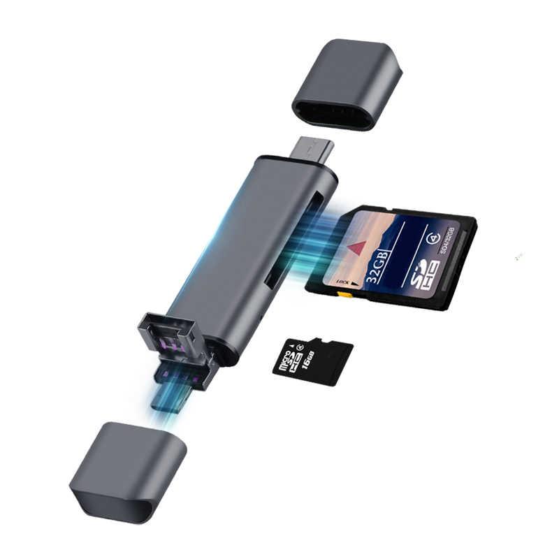 Lecteur de carte Llano USB 2.0 Type C à SD Micro SD TF adaptateur pour ordinateur portable accessoires OTG Cardreader mémoire intelligente lecteur de carte SD