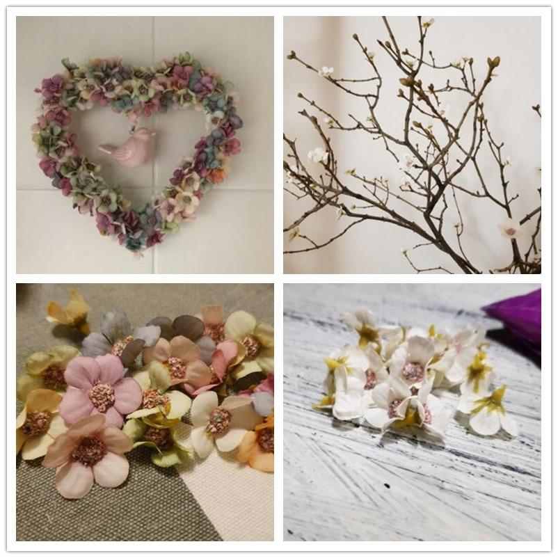 50/100pcs Multicolor Daisy Flower Head Mini Silk Artificial Flower For Wedding Engagement Party Home Decor DIY Garland Headdress 4