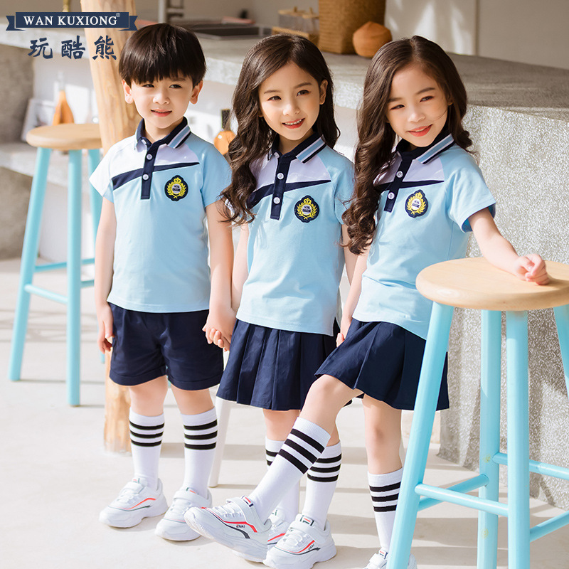 Play Cool Bear 2019 New Style Kindergarten School Uniform Business Attire Young STUDENT'S Performance Wear Summer College Style