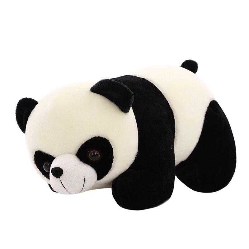 criancas bonito animais de pelucia boneca panda simulado realista engracado travesseiro brinquedo peluches gigantes travesseiros decoracao