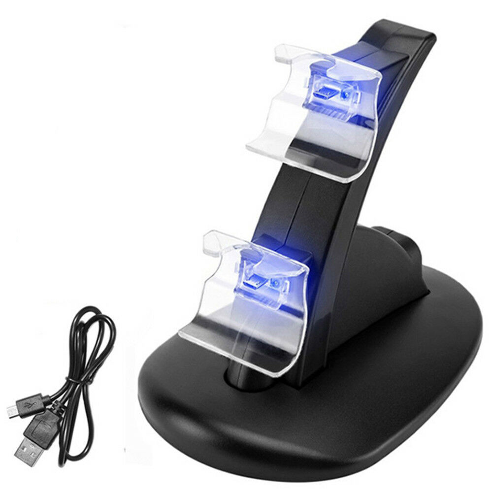 Controller Charger Dock LED Dual USB PS4 Charging Stand Station Cradle for Sony Playstation 4 PS4 / PS4 Pro /PS4 Slim Controller 6