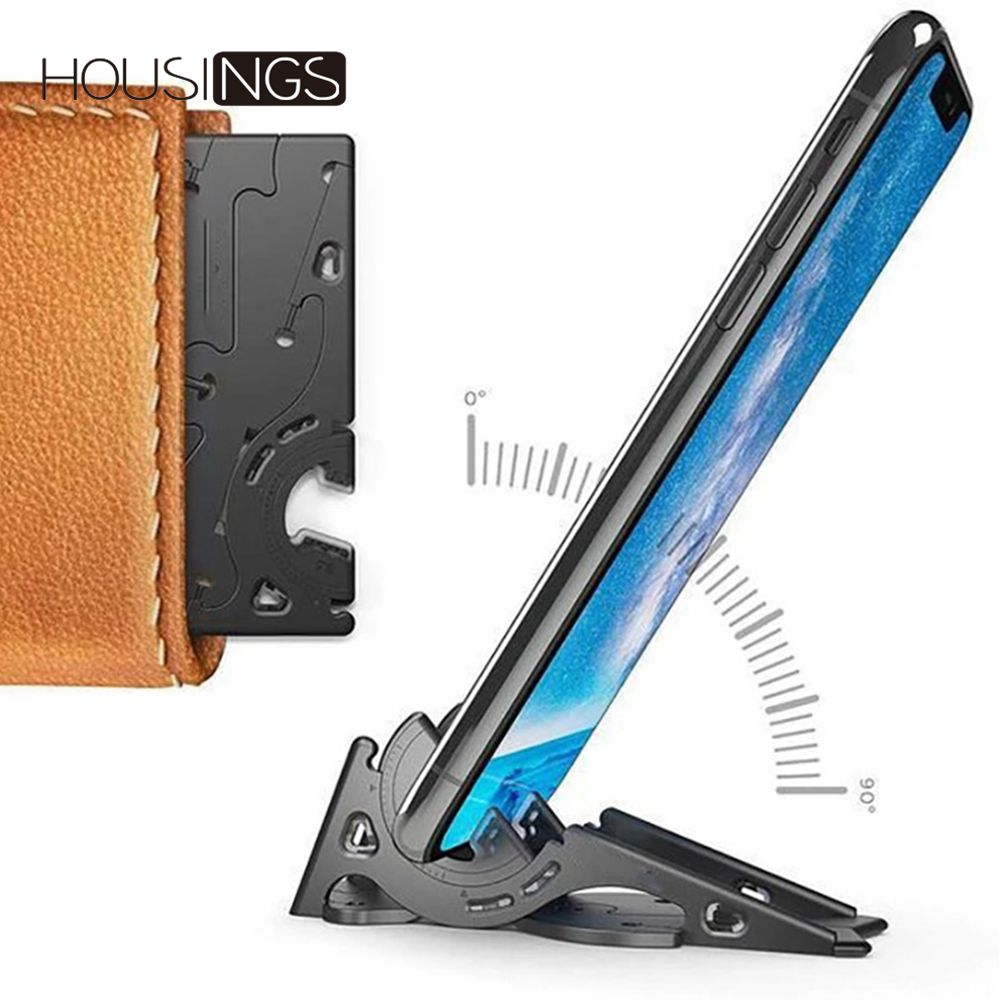 Universal Foldable Phone Holder For IPhone 7 8 XR Portable Rotation Convenient For Samsung Card Pocket Stand Adjustable Support
