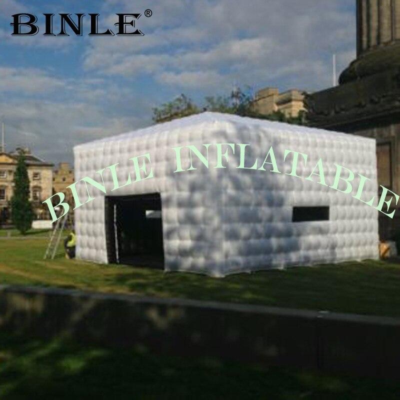 2019 chine tente carrée gonflable géante de Cube de bâtiment moderne/tente cubique/chapiteau d'événement pour la partie