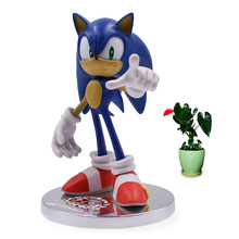 2 Styles Anime Game Sonic 20th Anniversary PVC Action Figure Collection Model Doll Toy Christmas Gift For Children 18 cm цена