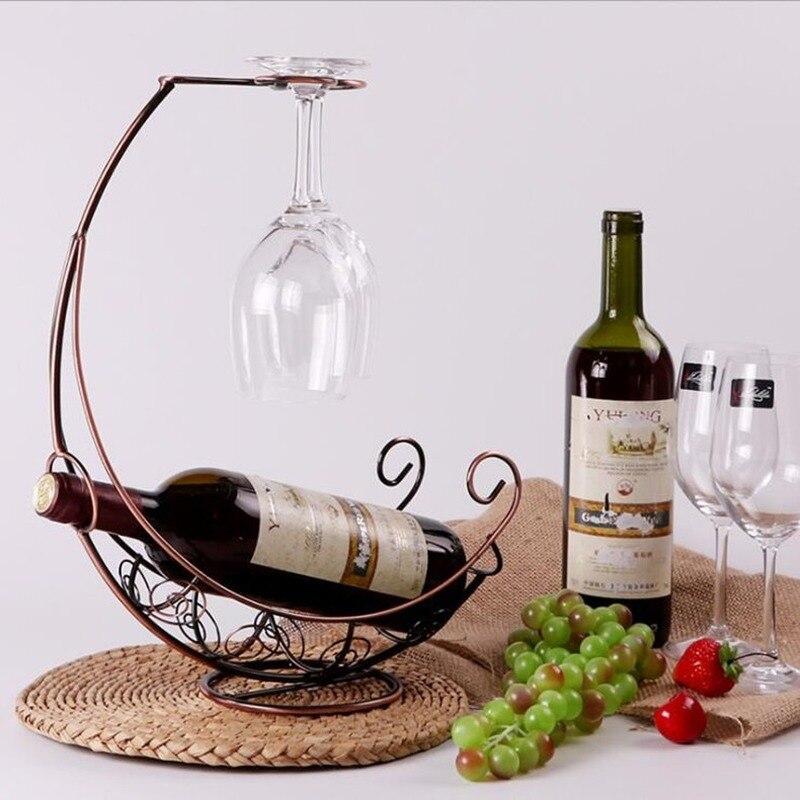1PCS Creative Metal Wine Rack Hanging Wine Glass Holder Bar Stand Bracket  Display Stand Bracket Decor WJB41817 Wine Racks  - AliExpress