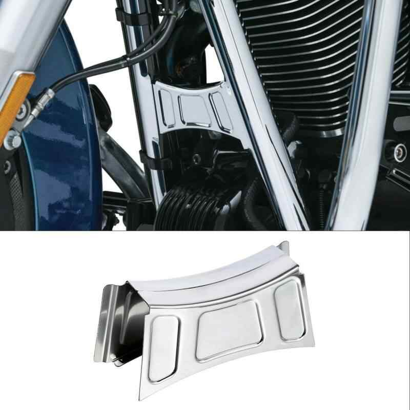 Motor Chrome Bingkai Downtube Crossbrace Cover Bisa Potong untuk Harley Touring Road King Street Electra Glide 99-13