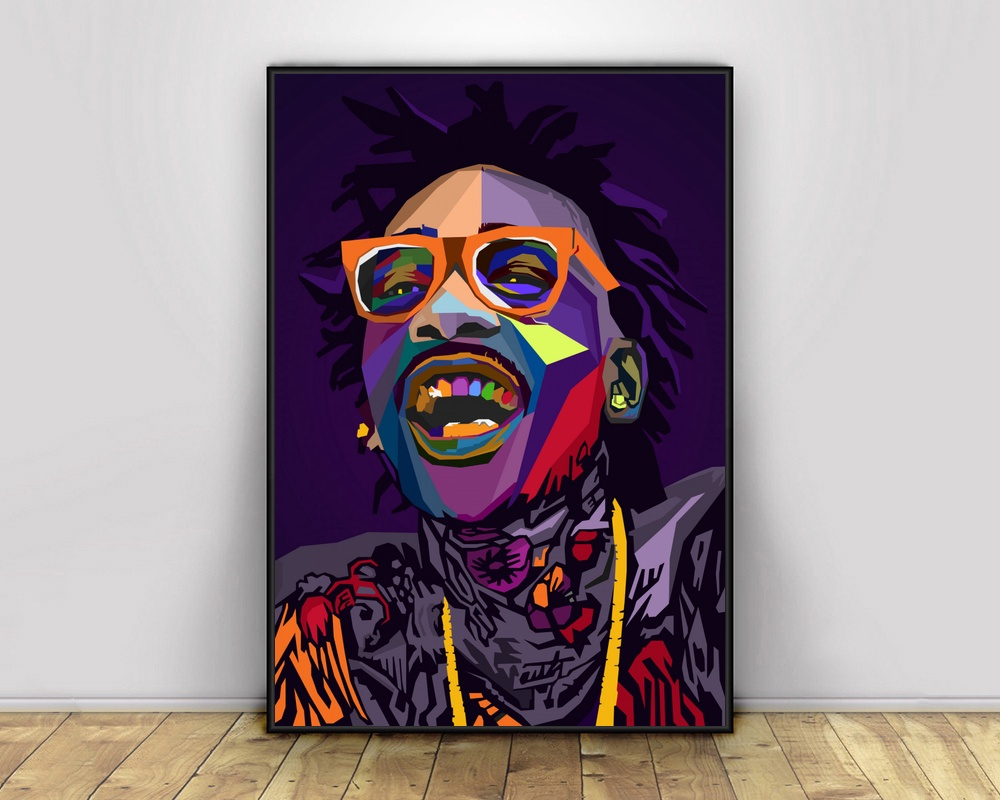 Wiz Khalifa Music Rapper Silk Poster 12x18 24x36 inch Picture for Room Decor