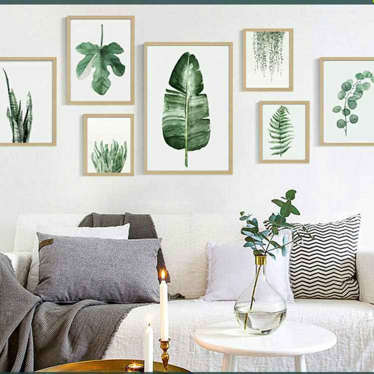 Monstera Deliciosa Leaves Wall Art Canvas Painting Green Style Plant Nordic Posters and Prints Picture Modern Home Decoration