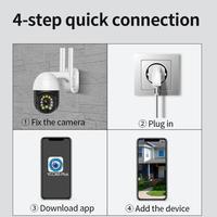 Telecamere di sicurezza IR Home sorveglianza esterna telecamera Wifi Wireless PTZ IP 1080P inclinazione Speed Dome esterno