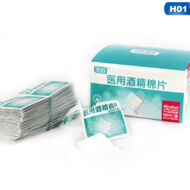 100 шт дезинфекция спирт Prep Pad герметичные стерильные медицинские прокладки для дома путешествия на открытом воздухе лагерь аптечки
