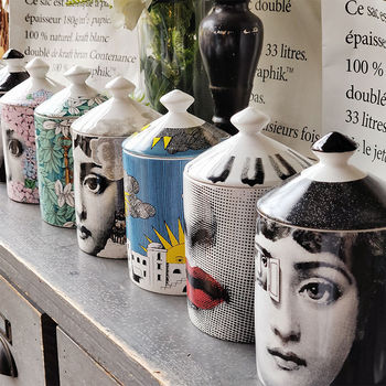 Lady Face Jar DIY Empty Candle Holder Beauty Dressing Brush Pen Box with Lid Ceramic Storage Tin Flower and Bottle 1