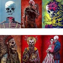 Наборы скелетов ужасов масляная краска ing по номерам для взрослых