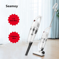 Seamoy 2 in 1 600W Lightweight Stick Vacuum Cleaner Handheld Vacuums Corded With 16Kpa Strong Suction For Floor Carpet Pet Hair