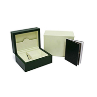 Mens Watch Box Inner Outer mans Watches Papers Card Wallet Boxes&Cases Men Rol Green box free shipping