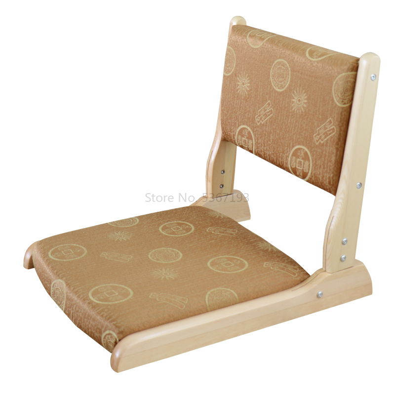 Japanese Tatami Chair Cushion Chair And Room Chair Nothing Leg Folding Chair Solid Wood Stool Bay Window Bed Chair