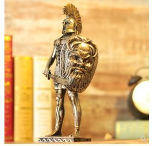Средневековая модель warrior armor, напоминающая римского воина, Мужская скульптура, статуя, высококачественные украшения