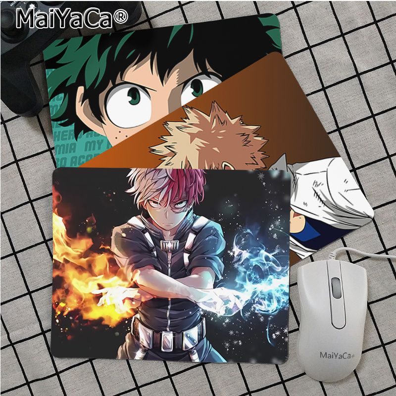 Maiya Anime My Hero Academia Deku Gamer Speed Mice Retail Small Rubber Mousepad Top Selling Wholesale Gaming Pad Mouse