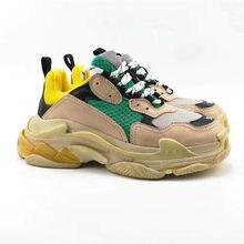 2021 masculino triple s imagens de corrida moda luxo designer formadores sapatos chaussures triplo-s andando tênis sapatos vulcani