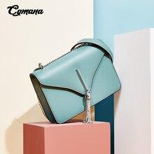 цены Fashion Handbag for Women 2019 Genuine Leather Cross Body Bags Women Shoulder Bag Charming Color Messenger Bags Ladies Elegant Bag