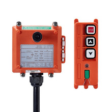 Original TELECRANE Wireless Industrial Remote Controller Electric Hoist Remote Control 1 Transmitter + 1 Receiver F21-2S two speed four direction crane industrial wireless remote control transmitter 1 receiver f21 4d ac110 sensor motion livolo