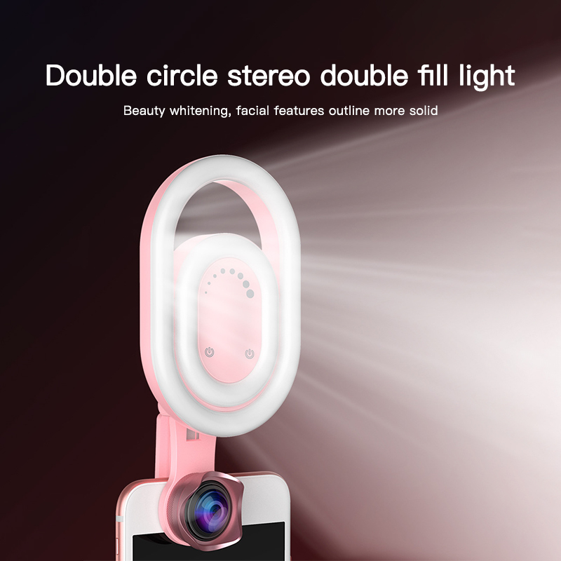 Photography Dimmable Fill Light Selfie Ring Light Youtube Phone Mini LED Video Light Universal for iPhone Samsung Huawei(China)