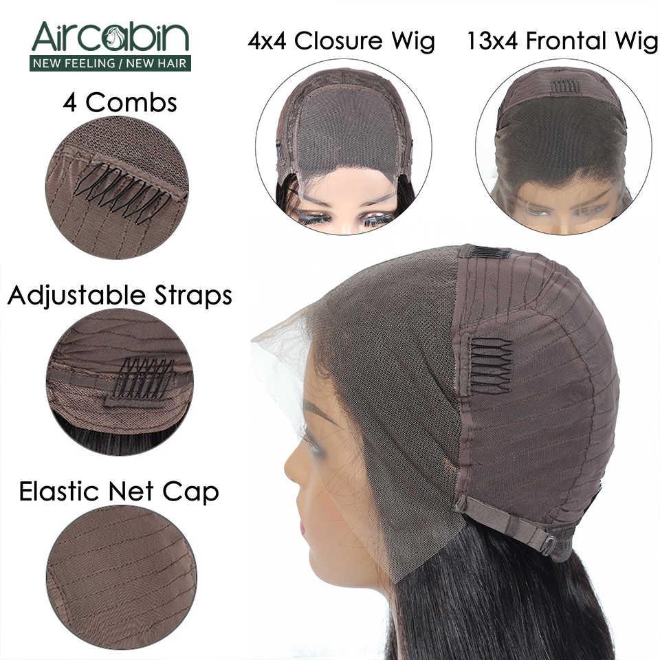 Волосы Aircabin 4x4 на шнурках, прямые, бразильские, 8-26 дюймов, неremy, для черных женщин, предварительно выщипанные отбеленные узлы