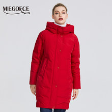 MIEGOFCE 2019 New winter women's collection Women's Winter Jacket Coats Female Windproof Parka With Stand-Up Collar and Hood(China)