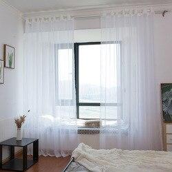 Minimalistyczny nowoczesny japoński czysty biały ekran okienny tiul do sypialni salon balkon pływający ekran okna kurtyny