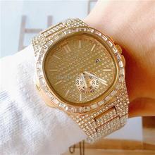 Dropshipping 2020 najlepiej sprzedające się produkty męskie zegarki luksusowe marki PP zegarek kwarcowy Ice Out złoty zegarek kwarcowy AAA zegarki tanie tanio specht sohne 21 5cm Luxury ru QUARTZ NONE 3Bar Przycisk ukryte zapięcie CN (pochodzenie) ALLOY Hardlex Kwarcowe Zegarki Na Rękę
