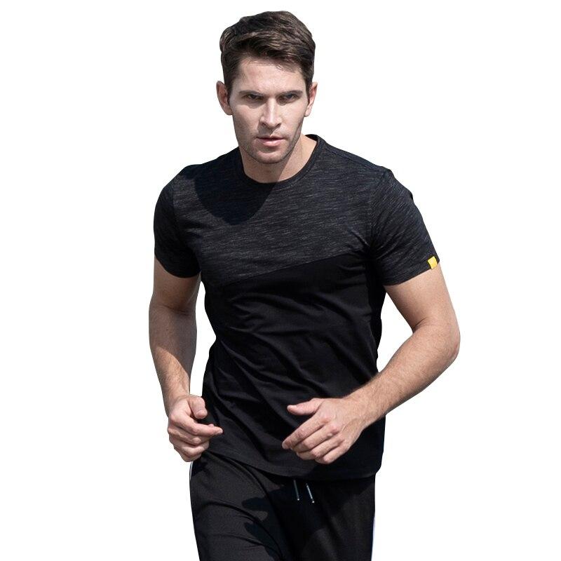 JOZSI T-Shirt Short-Sleeve Segment-Color Cotton Splicing Men's Summer New