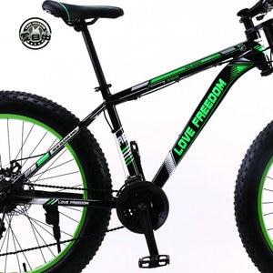Image 2 - Aşk özgürlük 7/21/24/27 hız dağ bisikleti alüminyum çerçeve yağ bisiklet 26 inç * 4.0 tireSnow bisiklet ücretsiz teslimat