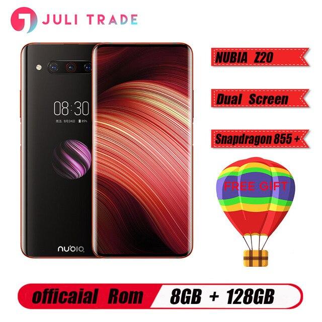 هاتف ذكي أصلي ZTE Nubia Z20 بشاشة 6.42 بوصة سنابدراجون 855 Plus ثماني النواة IPS 2340X1080 8GB 128GB 3 كاميرات 48MP 4000mAh