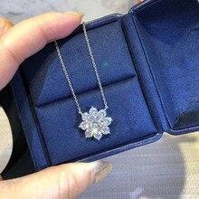 Zn s925 prata esterlina material requintado luxo cheio de fogo flor colar europeu americano moda colar para mulher