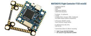 Image 5 - Matek Mateksys F722 SE/F722MINI SE Flight Controller AIO OSD BEC Strom Sensor Für RC Modelle Multicopter Drone Teil Accs