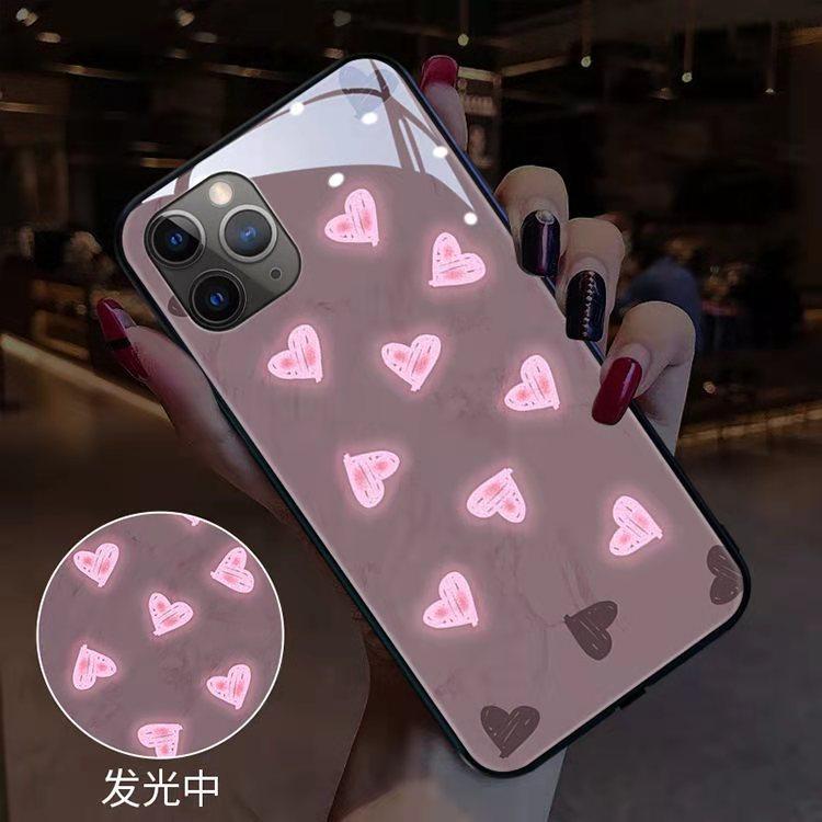 Colorful Call Led Light Flash Phone Case For Iphone 12 11 Pro Max Xs Max Xr 6 7 8 Plus X SE 2020 11 Case Creative Luminous Coque