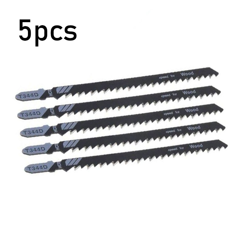 5pcs Jigsaw Blades T344D 6T T Shank Jigsaw Blade Wood Plastics Fast Cutting Tools Woodworking Cutting Accessories