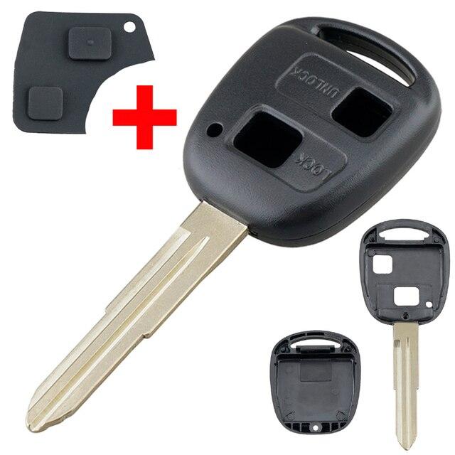 Smart Remote Auto Schlüssel Shell Auto Auto Schlüssel Fall Ersatz mit TOY41 Uncut Klinge und Gummi Taste Pad Fit für toyota Yaris Auto