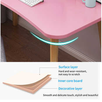 Cordial Shining Office Desk Wooden Desktop Simplicity Thicken Scratch Resistant Round Edge Home Student Writing Desk
