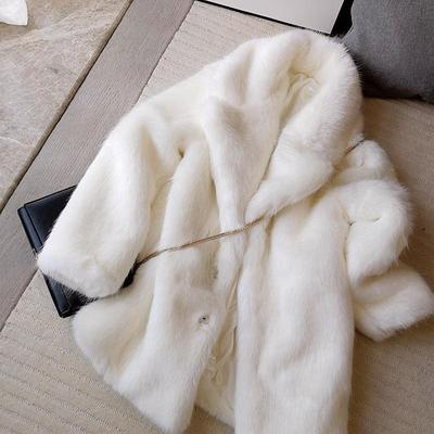 2020 New Style High-end Fashion Women Faux Fur Coat S110