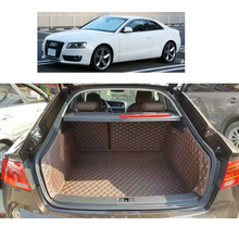 Lsrtw2017 Leather Car Trunk Mat Cargo Liner for Audi A5 Coupe Sportback 2007 2016 2015 2014 2012 2013 2011 2010 2008 2009 overe 1set car cargo rear trunk mat for toyota corolla e140 e150 2007 2008 2009 2010 2011 2012 2013 anti slip mat accessories