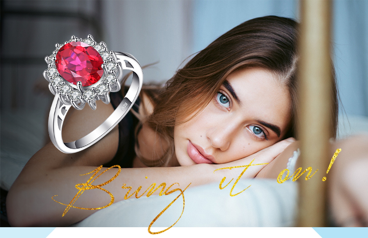 H27213c607264493ebddb1605c8927bc91 JewPalace Princess Diana Created Red Ruby Ring 925 Sterling Silver Rings for Women Engagement Ring Silver 925 Gemstones Jewelry