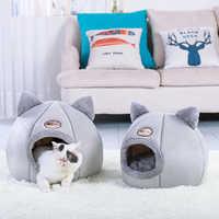 Cama de gato removível morna casa do gato do animal de estimação caverna inverno filhote de cachorro gatinho almofada do cão esteira pequenos cães gatos casa canil ninho interior cama gato gato gato gato gato gato gato gato