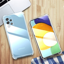 Clear Silicone Case Voor Samsung Galaxy A02 A32 4G A02S A52 A72 A12 A42 A02S 5G M62 F62 s21 + Ultra S20 Fe Shockproof Soft Cover
