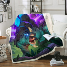 Kid Boys Cool Dinosaur Fluffy Cotton Blanket Jurassic Cartoon Girl throw blankets for beds Tyrannosauru Children Bedding Outlet