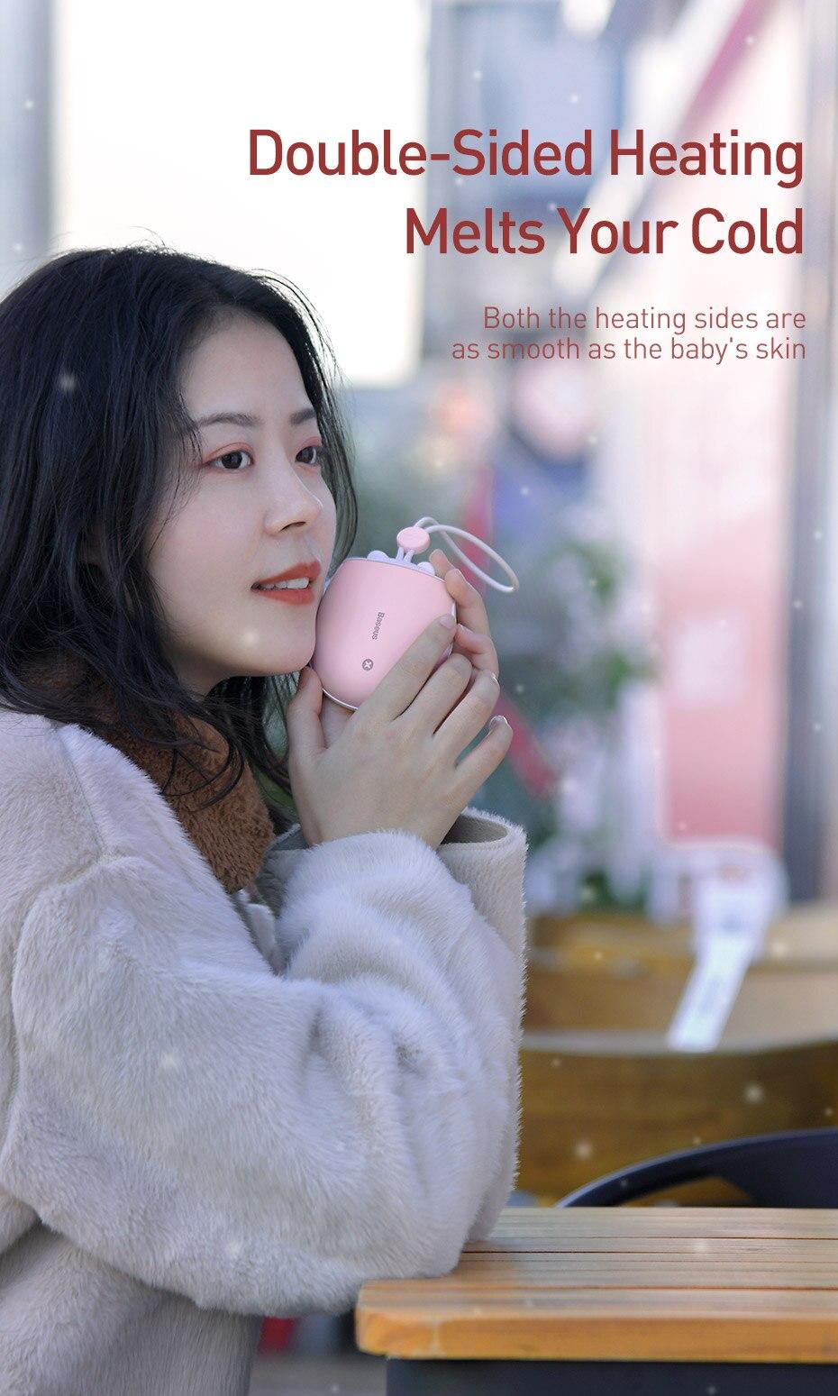 Baseus Heater Rechargeable Hand Warmer 4000 mAh Emergency Power Bank