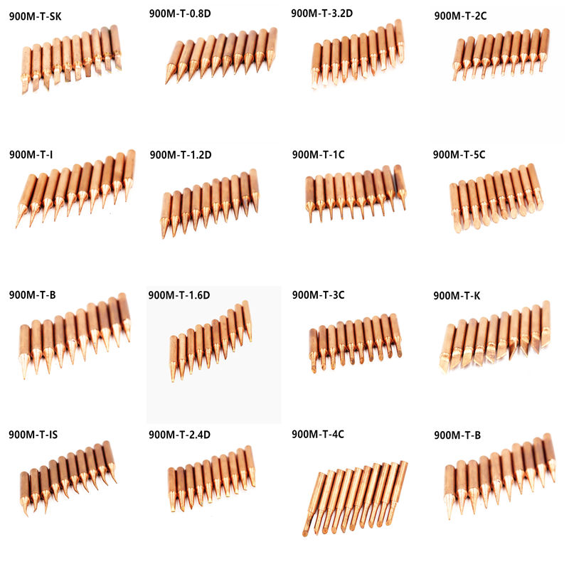 15 Modles Lead-free 900M T Series Pure Copper Soldering Iron Tip Welding Sting For Hakko 936 FX-888D 852D Soldering Iron Station
