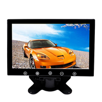 10.1inch mini monitor 1024x600 Desktop Car Reverse Backup Rearview TFT LCD Display 2 AV Video Input TV for Medical