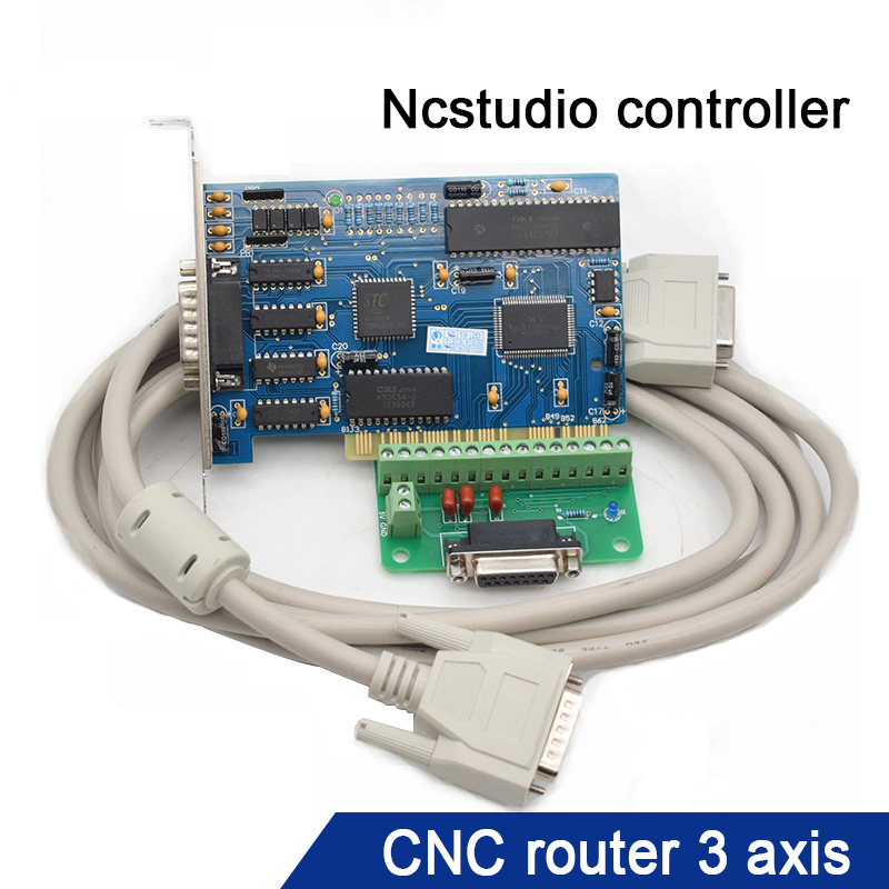 3 Axis NC Studio PCI Motion Ncstudio Control Card Interface Adapter Breakout Board for CNC Router Engraving Milling Machine